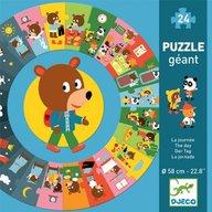 Djeco - Puzzle cicular, Ziua