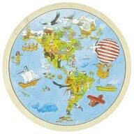 Goki - Puzzle circular din lemn Calatorie prin lume