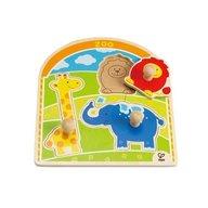 Hape - Puzzle cu buton la Zoo
