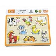 Viga - Puzzle din lemn Animale , Puzzle Copii , Cu manere, piese 8