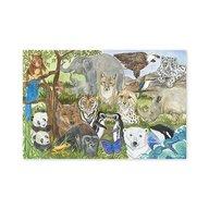 Melissa & Doug Puzzle De Podea Animale Protejate