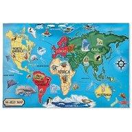 Melissa & Doug Puzzle De Podea Harta Lumii Worldap