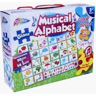 Grafix - Puzzle de podea muzical Alfabetul vesel