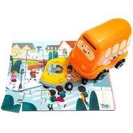Topbright - Puzzle din lemn Autobuzul scolii
