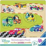 Ravensburger - Puzzle din lemn Cars, 7 piese