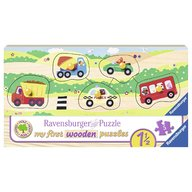 Ravensburger - Puzzle din lemn cu vehicule, 5 piese