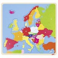 Goki - Puzzle din lemn Harta Europei