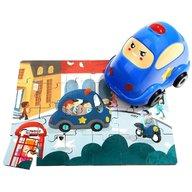 Topbright - Puzzle din lemn Masinuta de politie
