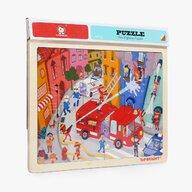 Topbright - Puzzle din lemn Pompieri in actiune , Puzzle Copii, piese 24