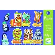 Djeco - Puzzle Trenuletul cu animale numarate