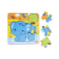 MamaMemo - Puzzle educativ elefant, 18m+