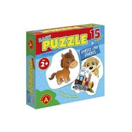 Alexander Toys - Puzzle educativ Calutul si prietenii , Puzzle Copii , Mega Box, 15 imagini