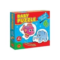 Alexander Toys - Puzzle educativ Ellie si prietenii , Puzzle Copii , 6 imagini, Mega Box, piese 27