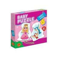 Alexander Toys - Puzzle educativ Lumea printesei , Puzzle Copii , 6 imagini, Mega Box, piese 27