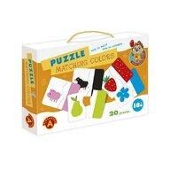 Alexander Toys - Puzzle educativ Potriveste culorile , Puzzle Copii , 20 imagini, piese 40