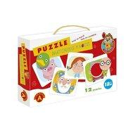 Alexander Toys - Puzzle educativ Potriveste fata , Puzzle Copii, piese 12