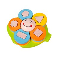 Commotion - Puzzle din lemn Floare Geo Puzzle Copii, piese15