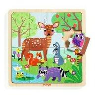 Djeco - Puzzle din lemn Forest , Puzzle Copii, piese 16