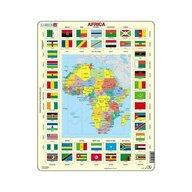 Larsen - Puzzle maxi Africa cu steaguri (limba engleza)  orientare tip vedere  70 de piese