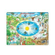 Larsen - Puzzle educativ Anotimpurile , Puzzle Copii , Maxi, Orientare tip vedere, In romana, piese 44