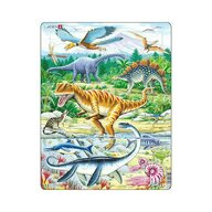 Larsen - Puzzle maxi Dinozauri  orientare tip portret  35 de piese
