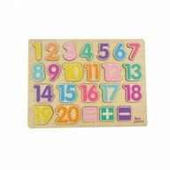 Jumini - Puzzle din lemn Numere Puzzle Copii, 23 piese