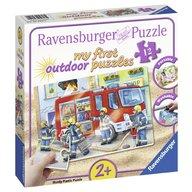 Ravensburger - Puzzle Plastic Pompieri, 12 piese