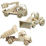 Pebaro - Puzzle Set 3 Masini de constructii