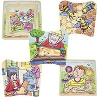 Beleduc - Puzzle din lemn Mierea de albine Stratificat Puzzle Copii, piese 28
