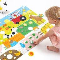 Banana Panda - Puzzle de podea Potriveste animalele Super mare, 96x64 cm Puzzle Copii, piese 34