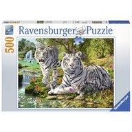 Ravensburger - Puzzle Tigri albi, 500 piese