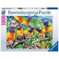 Ravensburger - Puzzle animale Tinutul Loriinilor Puzzle Adulti, piese 1000