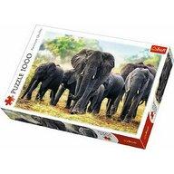 Trefl - Puzzle animale Elefanti africani , Puzzle Adulti, piese 1000, Multicolor