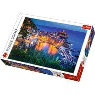 Trefl - Puzzle peisaje La apus in Vernanzza Italia , Puzzle Copii, piese 2000