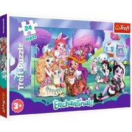 Trefl - Puzzle personaje Familia Enchantimals , Puzzle Copii , Maxi, piese 24, Multicolor