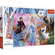 Trefl - Puzzle personaje Frozen 2 O zi plina de aventuri , Puzzle Copii , Maxi, piese 24, Multicolor