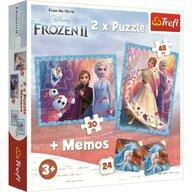 PUZZLE TREFL 2IN1 MEMO FROZEN2 TINUTUL MISTERIOS