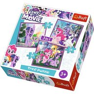 Trefl - Puzzle personaje Magia prieteniei , Puzzle Copii , 3 in 1, piese 103
