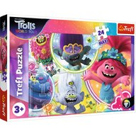Trefl - Puzzle personaje DreamWorks Trolls - Lumea muzicala a trolilor Maxi Puzzle Copii, piese 24