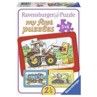 Ravensburger - Puzzle Utilaje, 3x6 piese