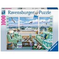 Ravensburger - Puzzle peisaje Vedere la plaja Puzzle Adulti, piese 1000