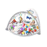Qmini - Salteluta interactiva Abby , Cu muzica, 20 bile, 6 jucarii , Pentru activitati educationale, din Poliester, 85x85 cm, Multicolor
