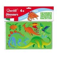 Quercetti - Set sabloane Dinosauri