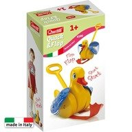 Quercetti - Jucarie pentru bebelusi cu maner Quack Flap Gasca