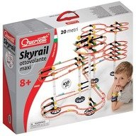 Quercetti - Joc creativ Skyrail Roller Coaster Maxi, 410 piese