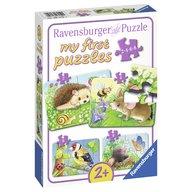 Ravensburger - Primul meu puzzle animale din padure, 2/4/6/8 piese