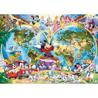 Ravensburger - Puzzle harta lumii Disney, 1000 piese
