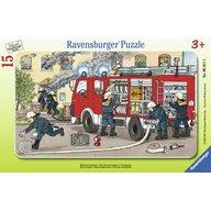 Ravensburger - PUZZLE MASINA DE POMPIERI, 15 PIESE