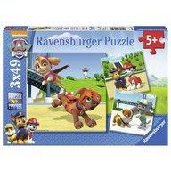 Ravensburger - Puzzle Patrula catelusilor, 3x49 piese