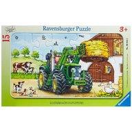 Ravensburger - PUZZLE TRACTOR LA FERMA, 15 PIESE